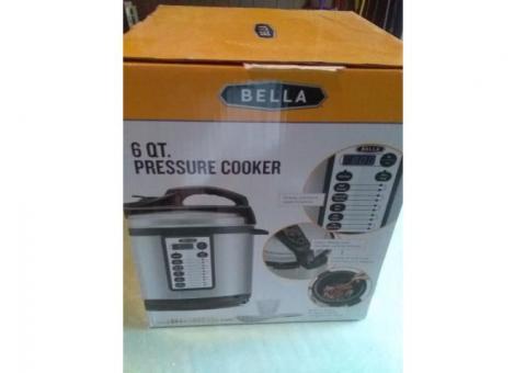 Bella 6 quart pressure cooker