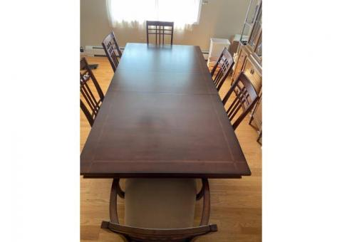 Dining room set - table and chairs