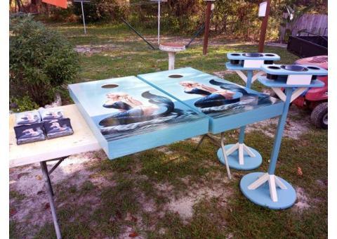 Cornhole Boards   - Mermaid Set