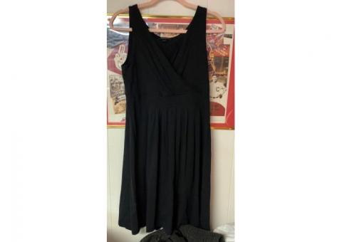 Lands End Black Dress (Size Small [6-8])